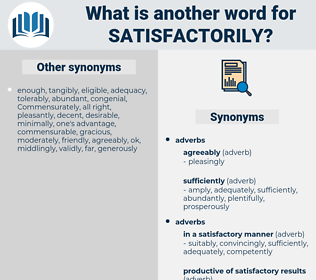 satisfactorily, synonym satisfactorily, another word for satisfactorily, words like satisfactorily, thesaurus satisfactorily