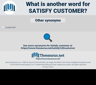 satisfy customer, synonym satisfy customer, another word for satisfy customer, words like satisfy customer, thesaurus satisfy customer