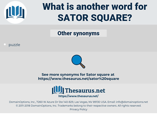 sator square, synonym sator square, another word for sator square, words like sator square, thesaurus sator square
