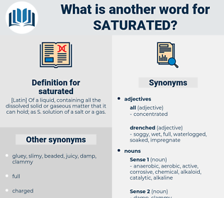 saturated, synonym saturated, another word for saturated, words like saturated, thesaurus saturated