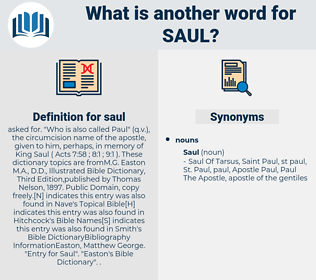 saul, synonym saul, another word for saul, words like saul, thesaurus saul