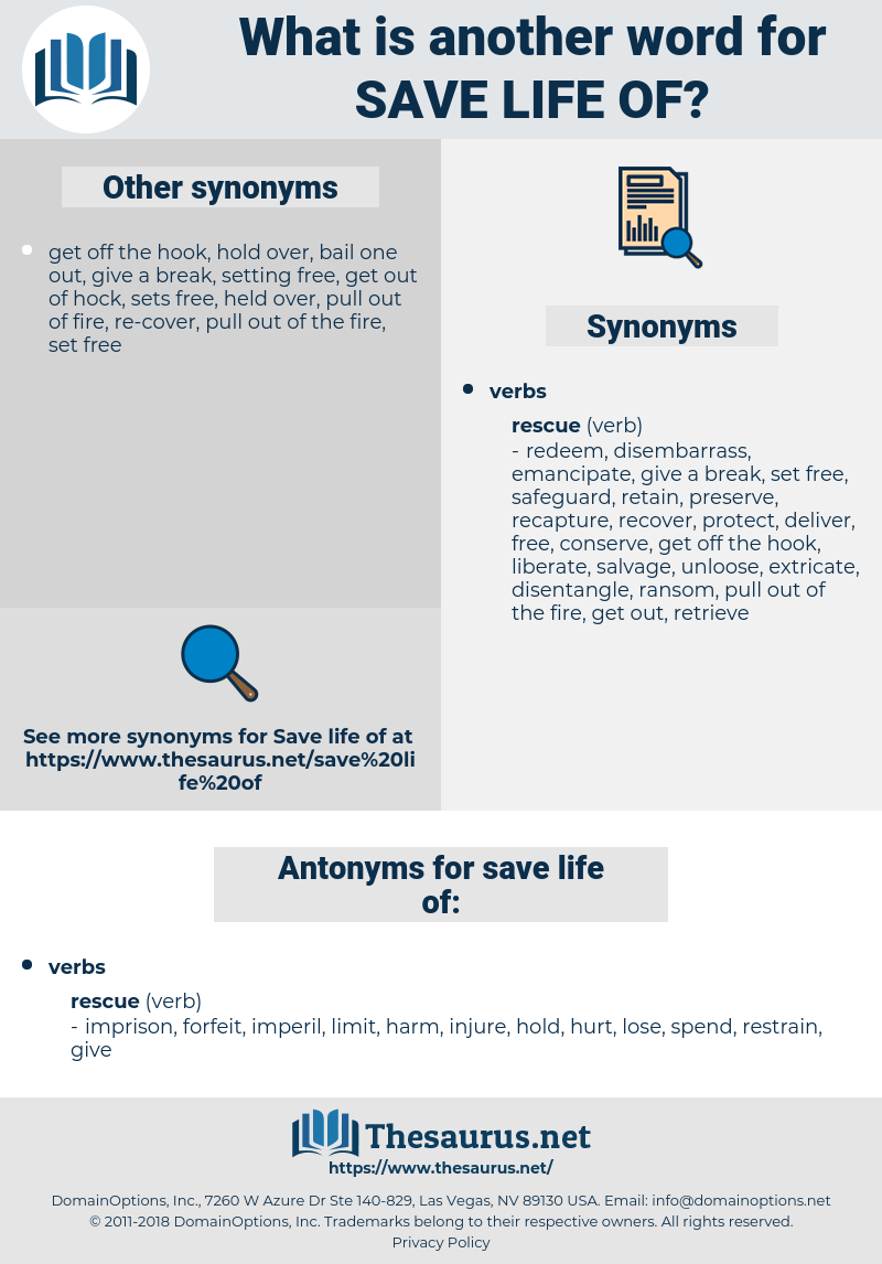 save life of, synonym save life of, another word for save life of, words like save life of, thesaurus save life of