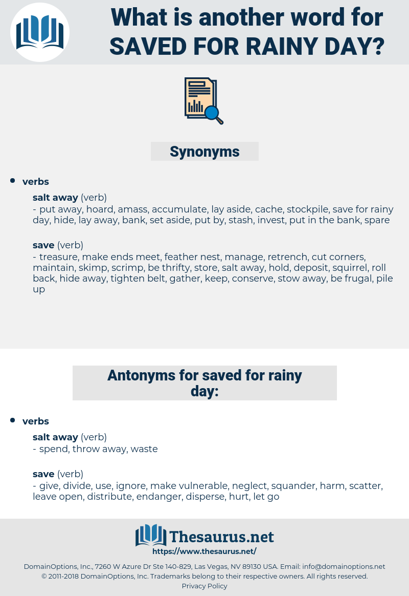 saved for rainy day, synonym saved for rainy day, another word for saved for rainy day, words like saved for rainy day, thesaurus saved for rainy day
