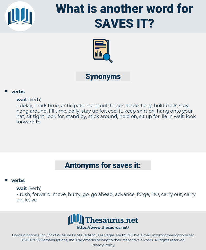 saves it, synonym saves it, another word for saves it, words like saves it, thesaurus saves it