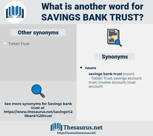 savings bank trust, synonym savings bank trust, another word for savings bank trust, words like savings bank trust, thesaurus savings bank trust