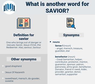 savior, synonym savior, another word for savior, words like savior, thesaurus savior