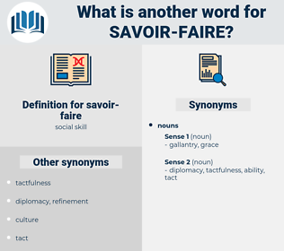 savoir-faire, synonym savoir-faire, another word for savoir-faire, words like savoir-faire, thesaurus savoir-faire