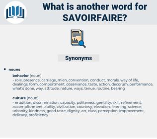 savoirfaire, synonym savoirfaire, another word for savoirfaire, words like savoirfaire, thesaurus savoirfaire