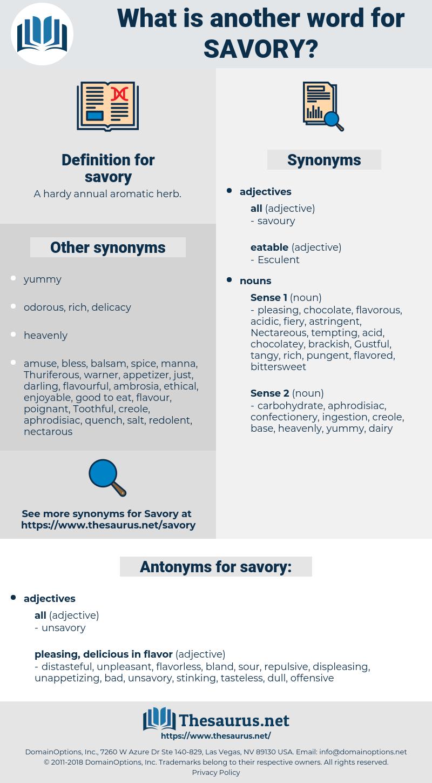 savory, synonym savory, another word for savory, words like savory, thesaurus savory