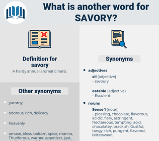 savory, synonym savory, another word for savory, words like savory, thesaurus savory