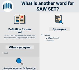 saw set, synonym saw set, another word for saw set, words like saw set, thesaurus saw set