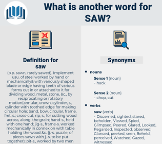 saw, synonym saw, another word for saw, words like saw, thesaurus saw