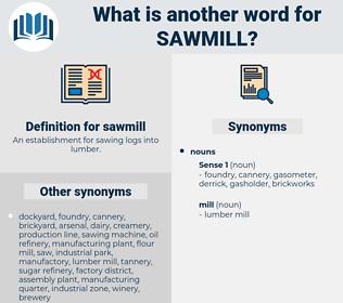 sawmill, synonym sawmill, another word for sawmill, words like sawmill, thesaurus sawmill