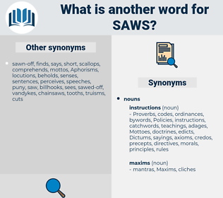 saws, synonym saws, another word for saws, words like saws, thesaurus saws
