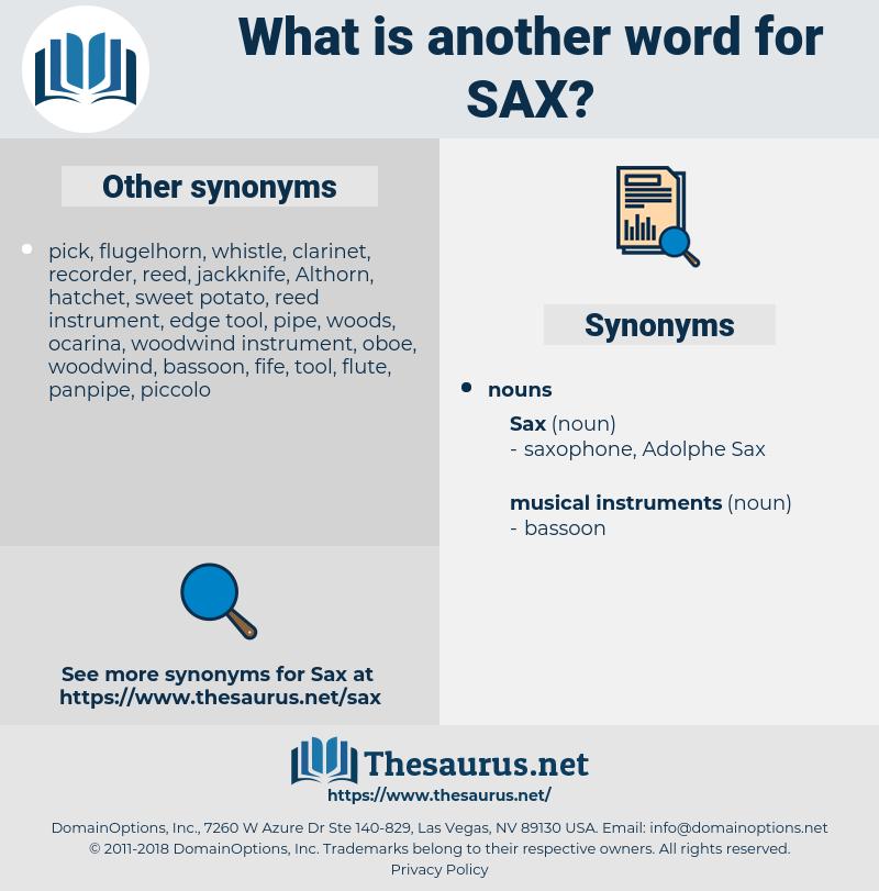 sax, synonym sax, another word for sax, words like sax, thesaurus sax