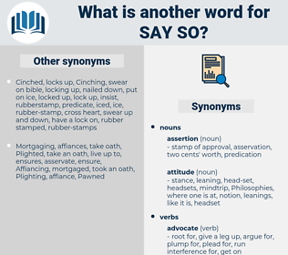 say-so, synonym say-so, another word for say-so, words like say-so, thesaurus say-so