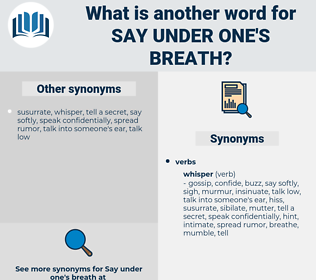 say under one's breath, synonym say under one's breath, another word for say under one's breath, words like say under one's breath, thesaurus say under one's breath