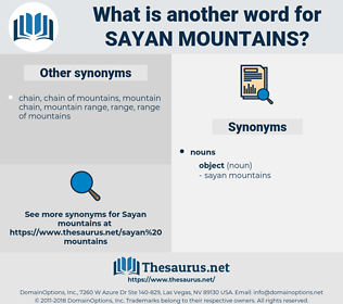 sayan mountains, synonym sayan mountains, another word for sayan mountains, words like sayan mountains, thesaurus sayan mountains
