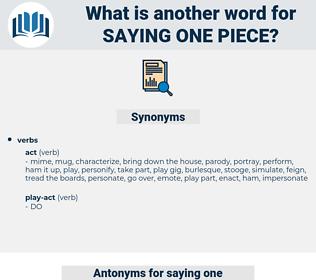 saying one piece, synonym saying one piece, another word for saying one piece, words like saying one piece, thesaurus saying one piece