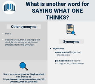 saying what one thinks, synonym saying what one thinks, another word for saying what one thinks, words like saying what one thinks, thesaurus saying what one thinks