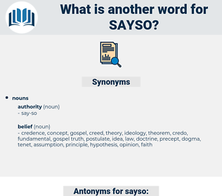 sayso, synonym sayso, another word for sayso, words like sayso, thesaurus sayso