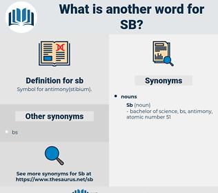 sb, synonym sb, another word for sb, words like sb, thesaurus sb