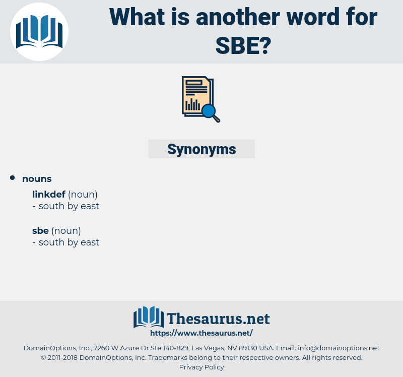 sbe, synonym sbe, another word for sbe, words like sbe, thesaurus sbe