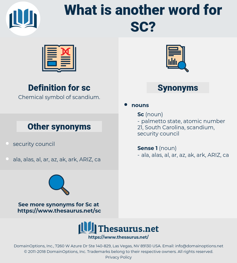 sc, synonym sc, another word for sc, words like sc, thesaurus sc