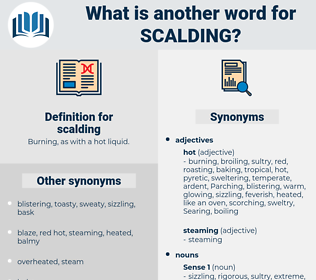 scalding, synonym scalding, another word for scalding, words like scalding, thesaurus scalding