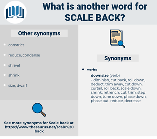 scale back, synonym scale back, another word for scale back, words like scale back, thesaurus scale back