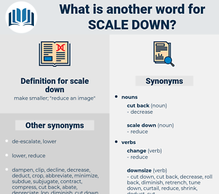 scale down, synonym scale down, another word for scale down, words like scale down, thesaurus scale down