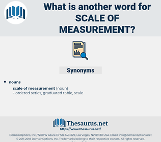 scale of measurement, synonym scale of measurement, another word for scale of measurement, words like scale of measurement, thesaurus scale of measurement
