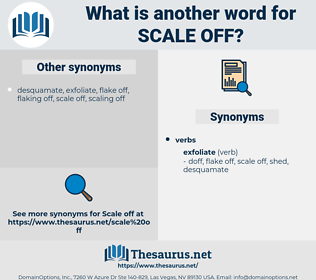 scale off, synonym scale off, another word for scale off, words like scale off, thesaurus scale off