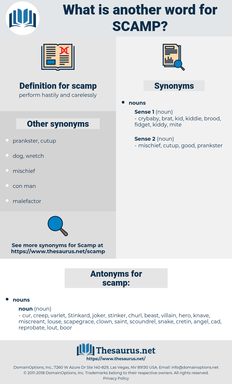 scamp, synonym scamp, another word for scamp, words like scamp, thesaurus scamp