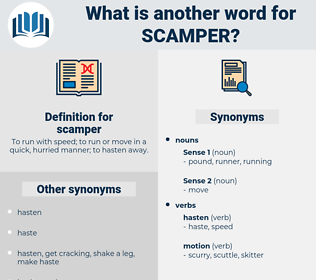 scamper, synonym scamper, another word for scamper, words like scamper, thesaurus scamper
