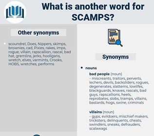 scamps, synonym scamps, another word for scamps, words like scamps, thesaurus scamps
