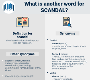 scandal, synonym scandal, another word for scandal, words like scandal, thesaurus scandal