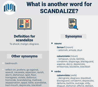 scandalize, synonym scandalize, another word for scandalize, words like scandalize, thesaurus scandalize