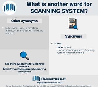 scanning system, synonym scanning system, another word for scanning system, words like scanning system, thesaurus scanning system