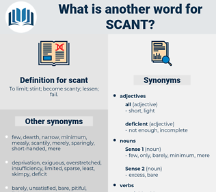 scant, synonym scant, another word for scant, words like scant, thesaurus scant