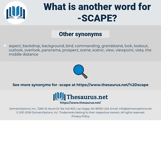 scape, synonym scape, another word for scape, words like scape, thesaurus scape