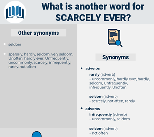 scarcely ever, synonym scarcely ever, another word for scarcely ever, words like scarcely ever, thesaurus scarcely ever