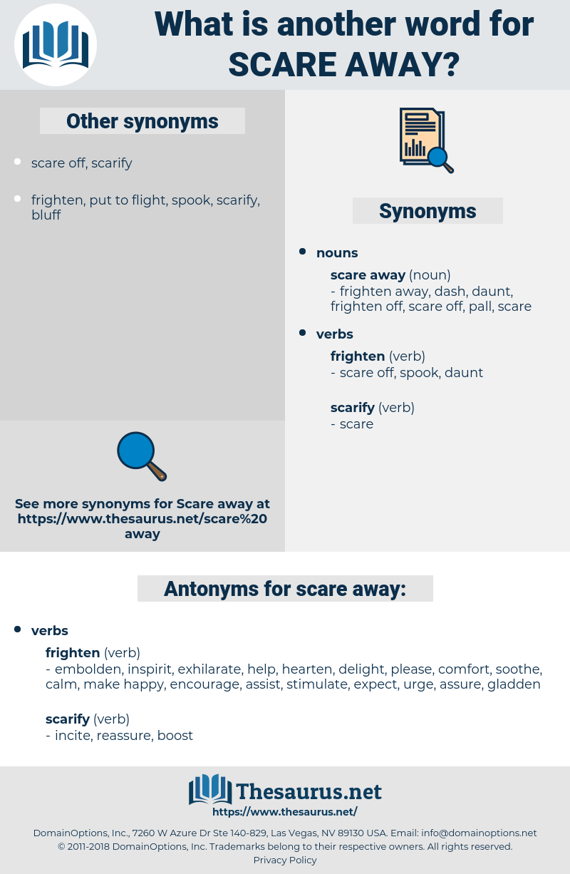 scare away, synonym scare away, another word for scare away, words like scare away, thesaurus scare away