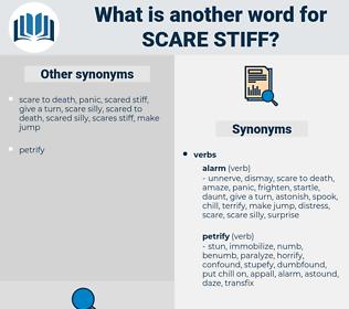 scare stiff, synonym scare stiff, another word for scare stiff, words like scare stiff, thesaurus scare stiff