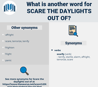 scare the daylights out of, synonym scare the daylights out of, another word for scare the daylights out of, words like scare the daylights out of, thesaurus scare the daylights out of