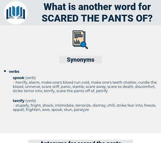 scared the pants of, synonym scared the pants of, another word for scared the pants of, words like scared the pants of, thesaurus scared the pants of