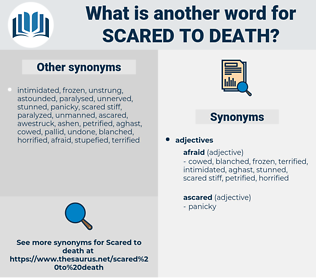 scared to death, synonym scared to death, another word for scared to death, words like scared to death, thesaurus scared to death