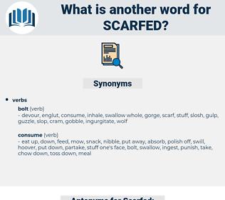 Scarfed, synonym Scarfed, another word for Scarfed, words like Scarfed, thesaurus Scarfed