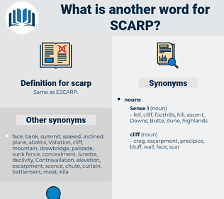scarp, synonym scarp, another word for scarp, words like scarp, thesaurus scarp