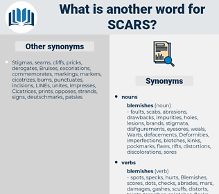 Scars, synonym Scars, another word for Scars, words like Scars, thesaurus Scars